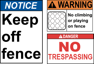 Safety Compliance Signs