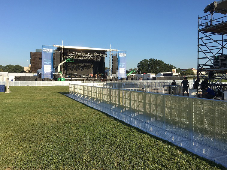 SONCO Stage Barriers Create Safe Paths for Staff and Protect Performers at an Outdoor Music Festival