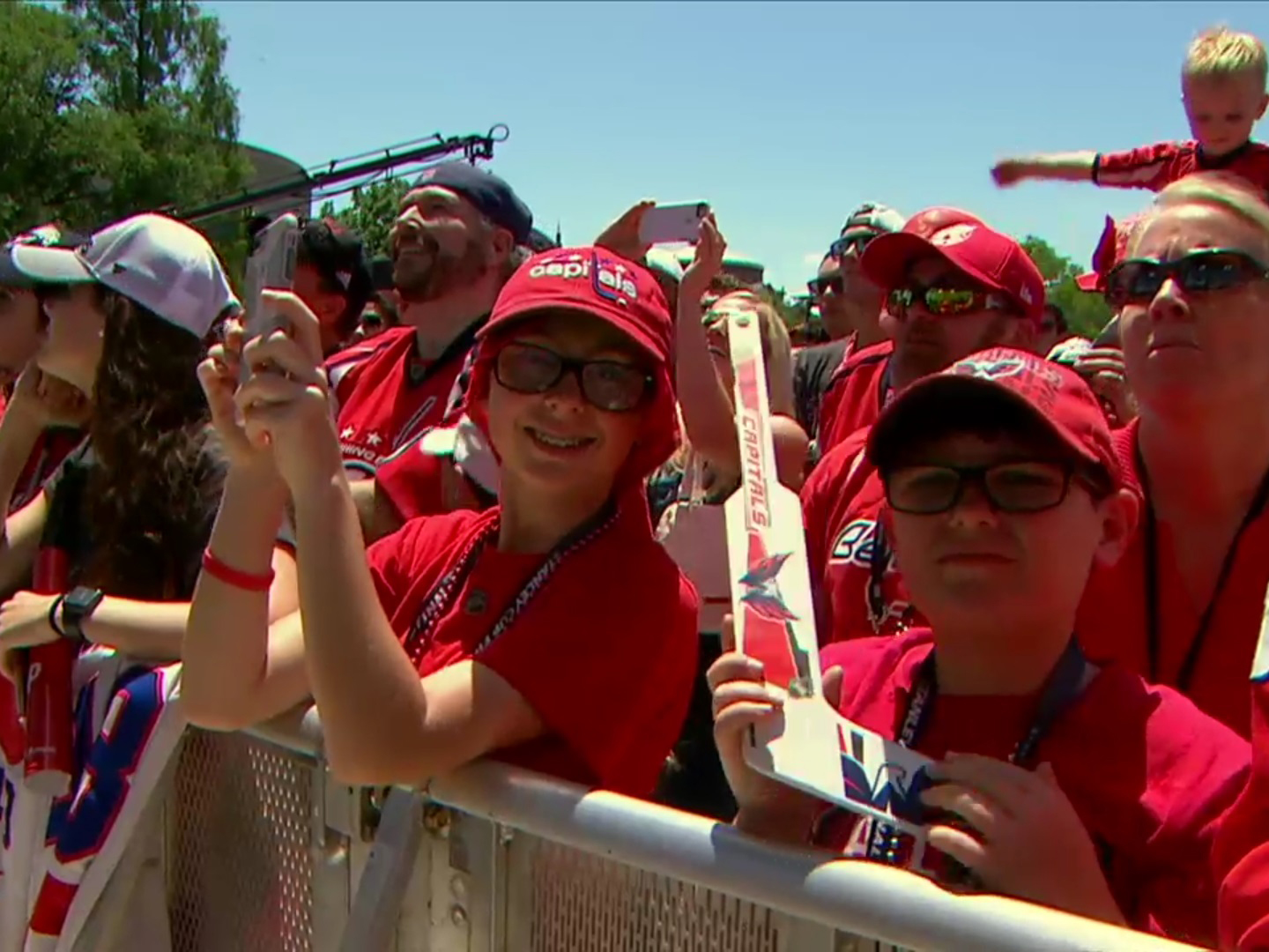 Crowd Stands Behind SONCO Stage Barriers at the Washington Capital's Stanley Cup Champions Parade
