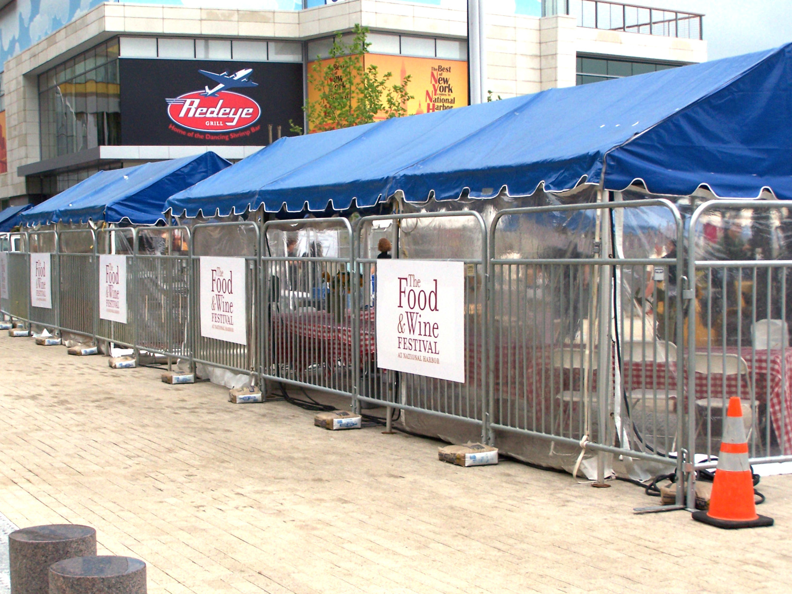 SONCO Barriers and Custom Signs at the Food & Wine Festival