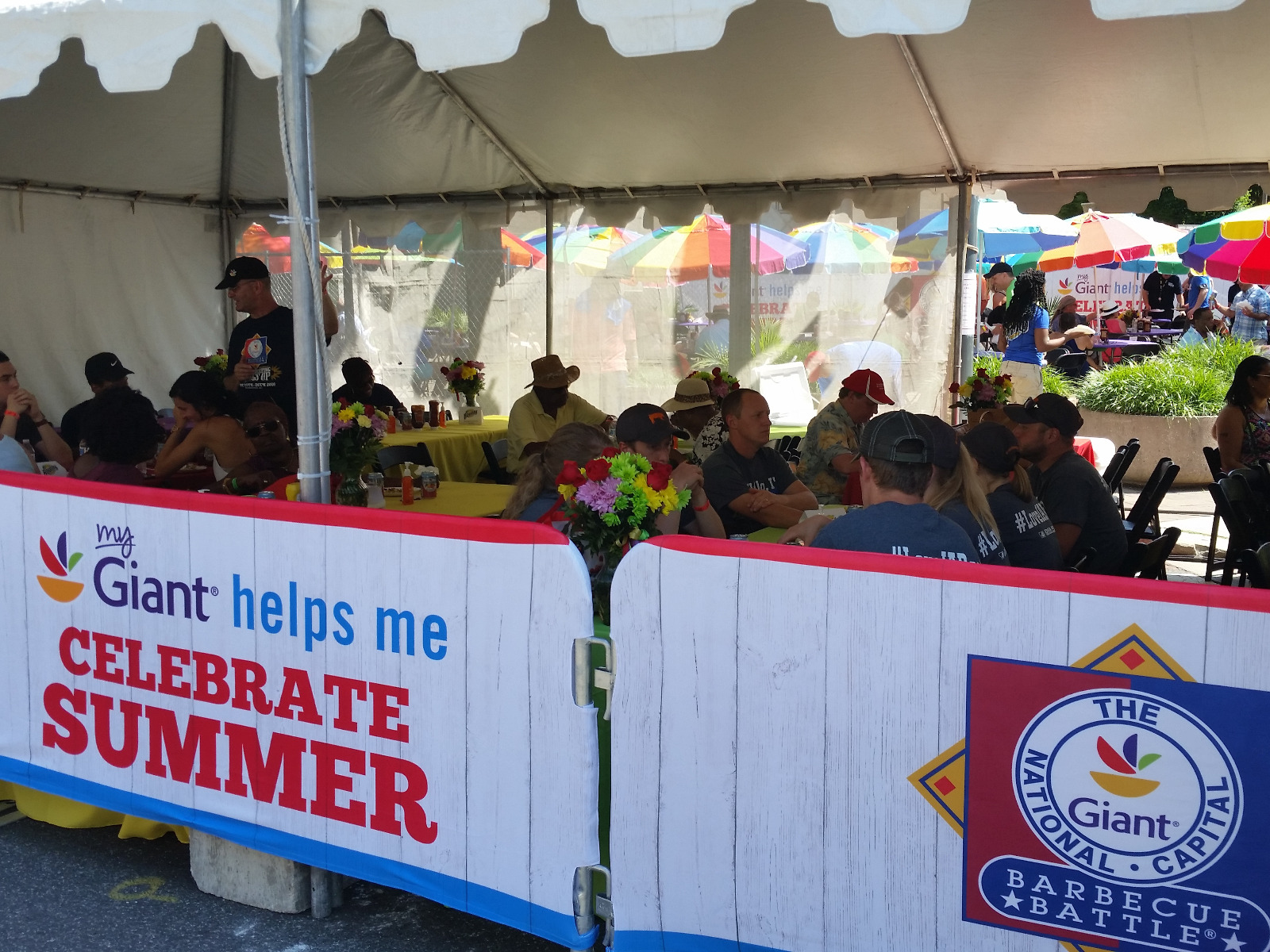 Custom Barricade Covers Over SONCO Barricades at Giant Food's National Capital BBQ Event